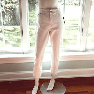 NEW RALPH LAUREN white denim short Capri jeans 14